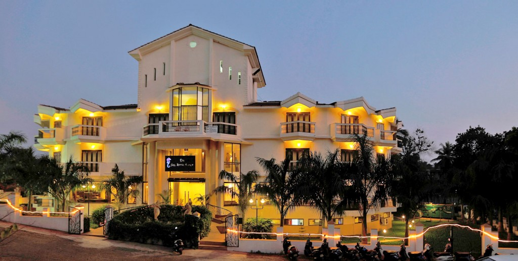 Resort in North Goa.The Sea Horse Resort Front View